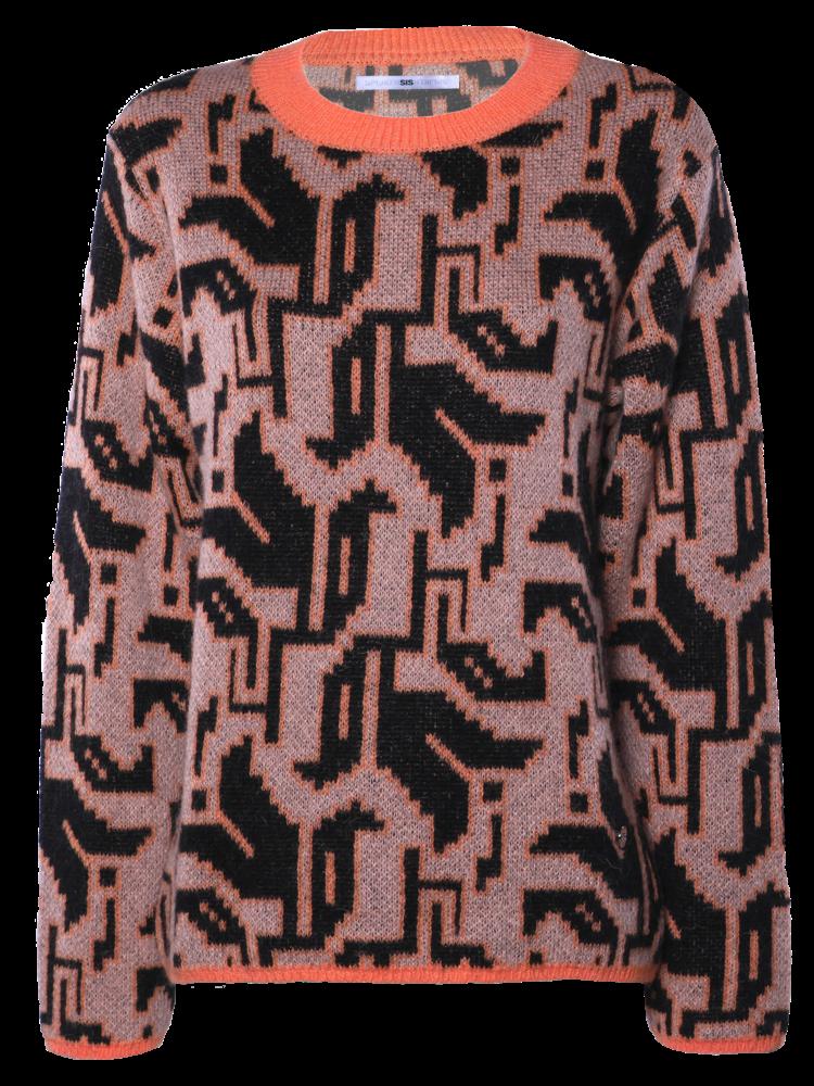 SIS by Spijkers en Spijkers knitted pullover in tulip motif