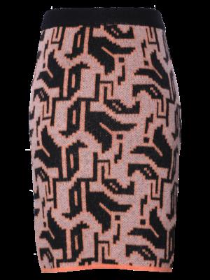 SIS by Spijkers en Spijkers knitted skirt in tulip motif