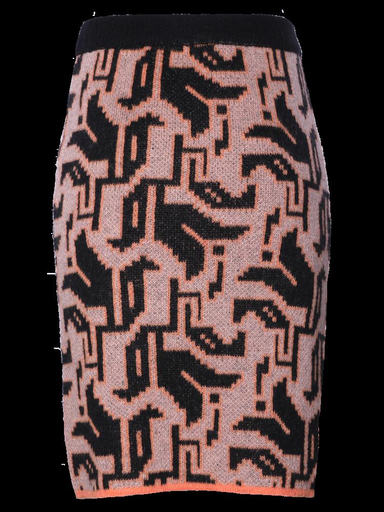 knitted skirt in tulip motif