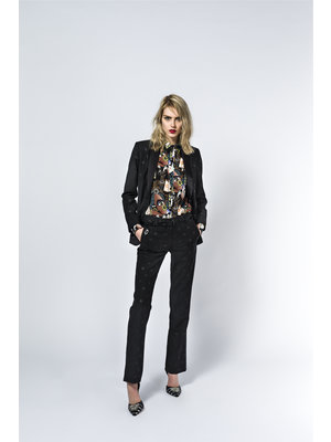 smooking blazer with woven star motif