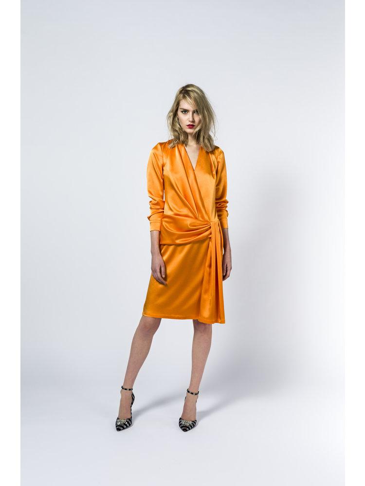 draped dress with shine