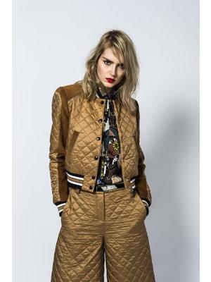 SIS by Spijkers en Spijkers quilted college jacket with corduroy