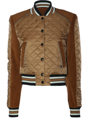 quilted college jacket with corduroy