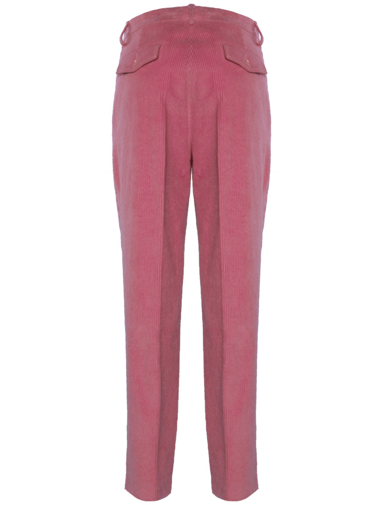 long flair trousers in corduroy