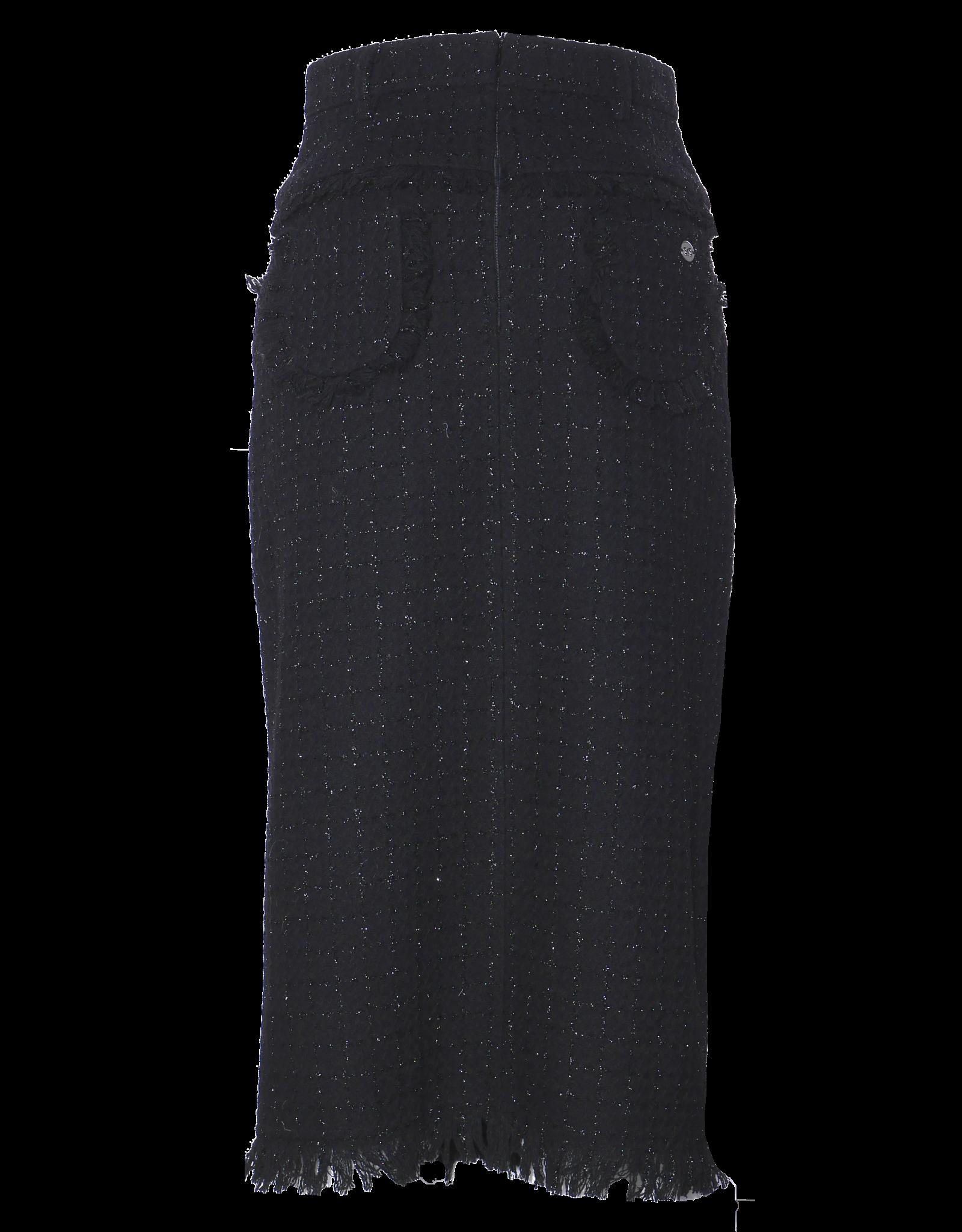 AW2021 305-AE Long Tweed Skirt