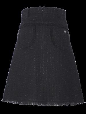 304-AE Short Tweed Skirt