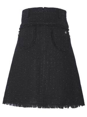 tweed skirt with woven lurex thread