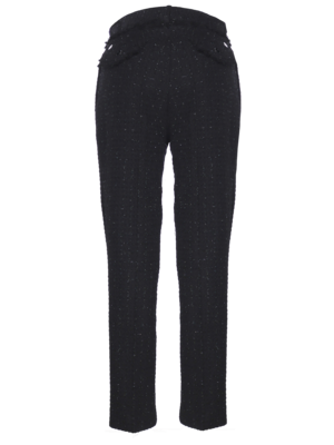one pleated boucle trousers with lurex thread