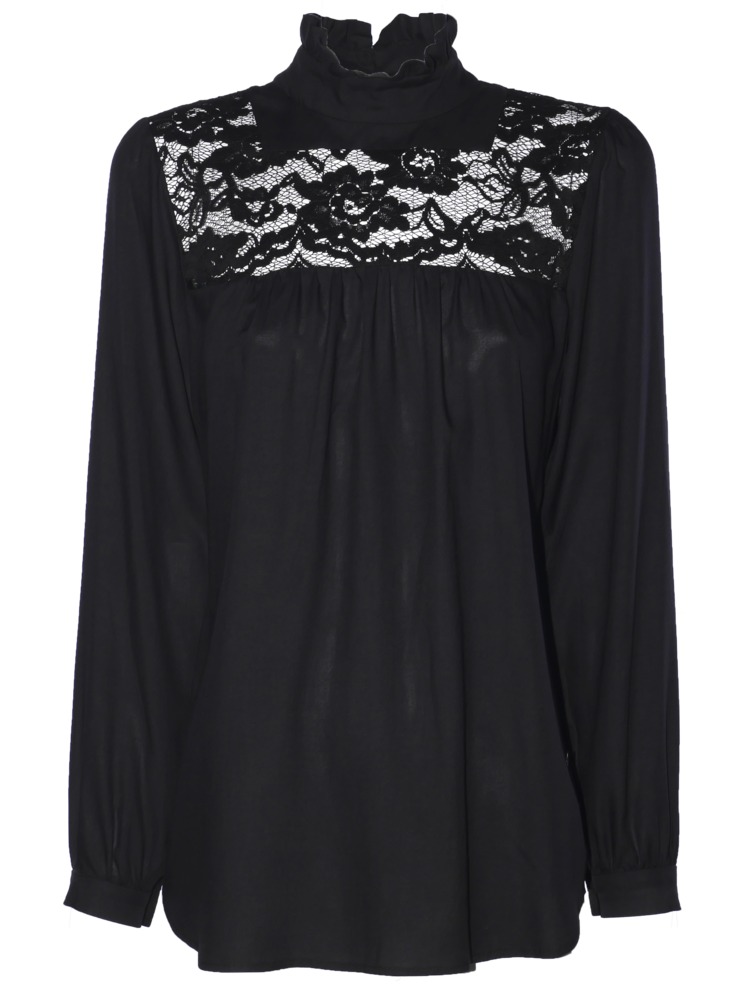 boho blouse with lace detail