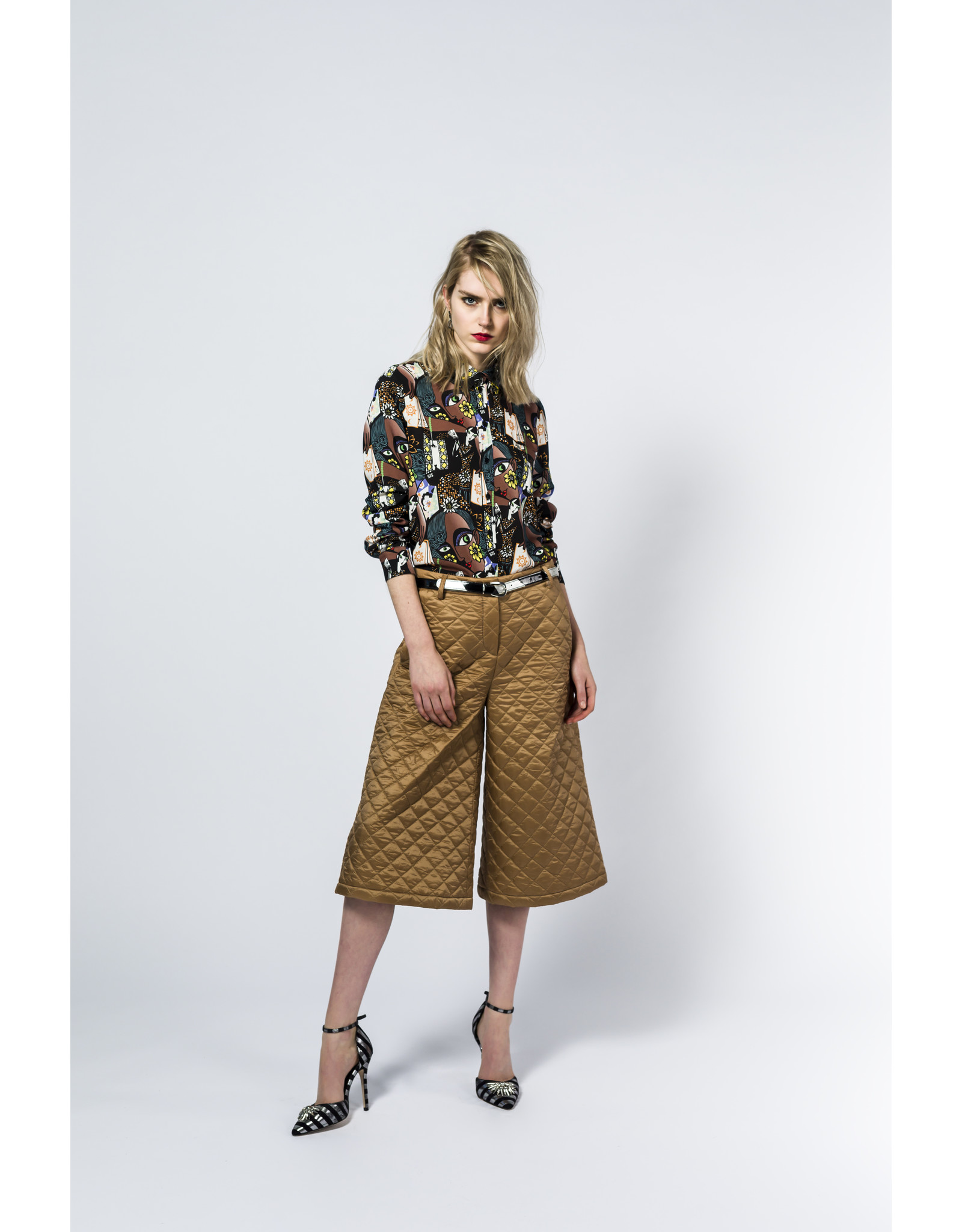AW2021 229-Z Quilted Culotte Pants