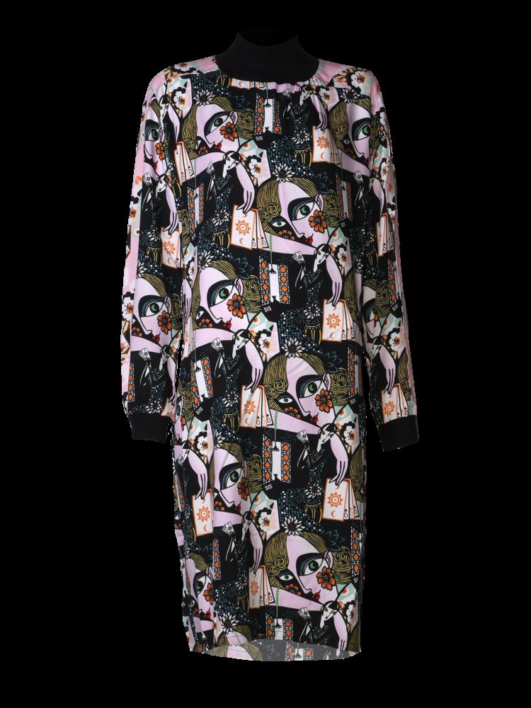 564-R Slit Sleeve Dress