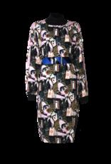 AW2021 564-R Slit Sleeve Dress