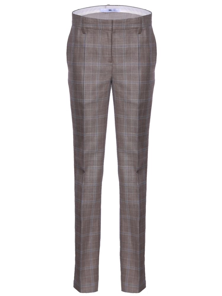 flong flair pants with a classic check