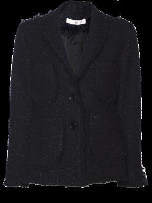 AW2021 420-AE Tweed Fringe Jacket
