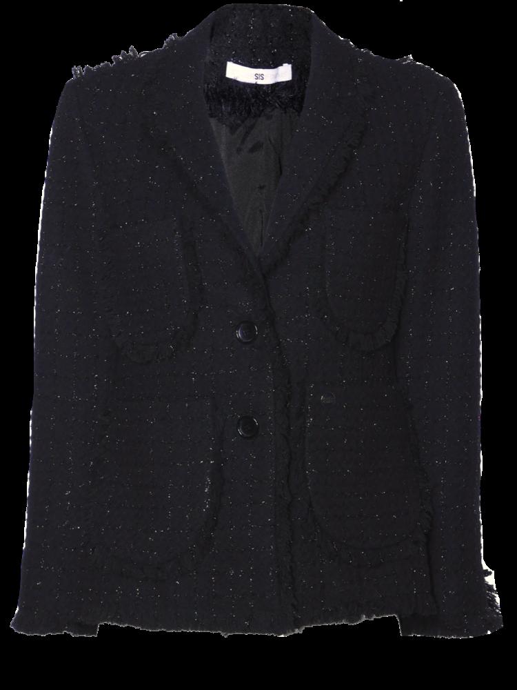 tweed blazer with woven lurex thread