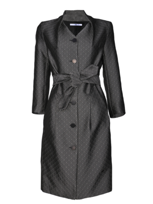 fitted coat in woven jacquard