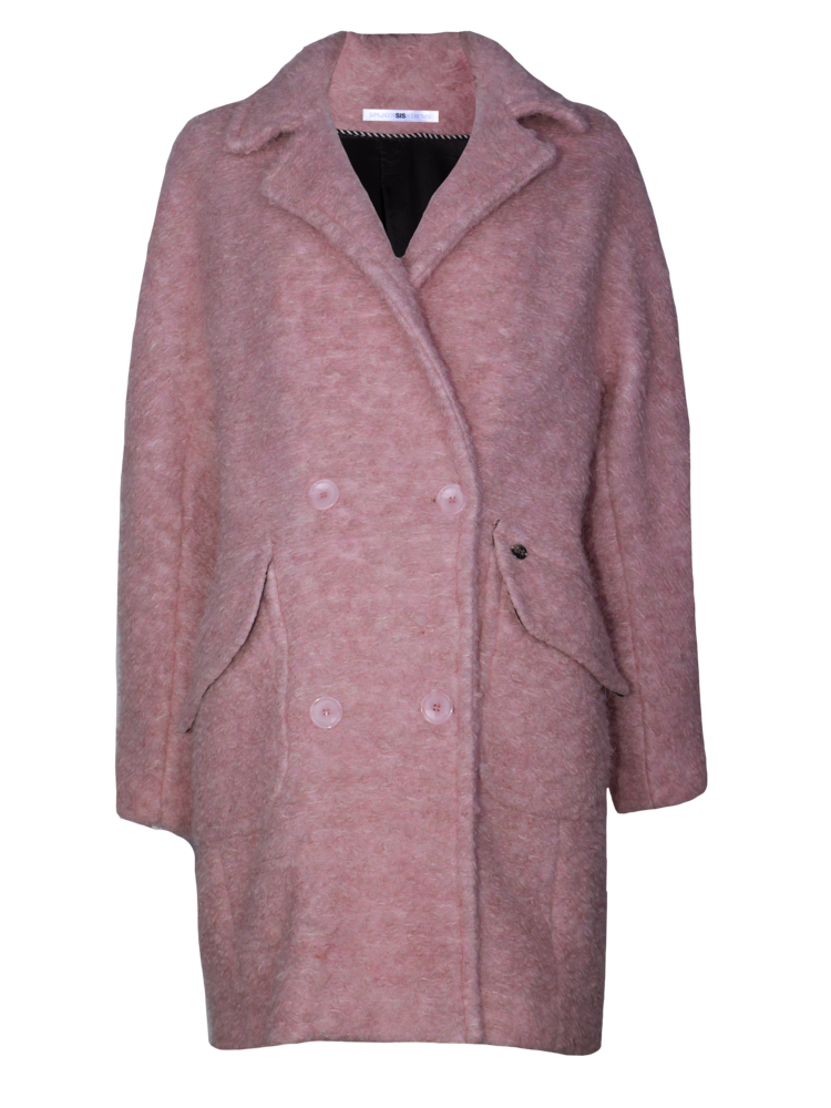 boucle oversized coat