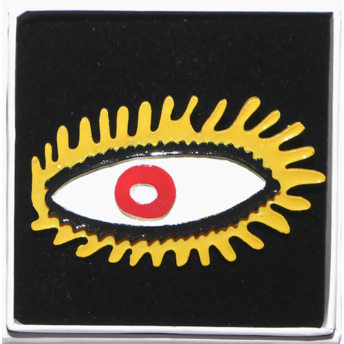 Brooch eye yellow