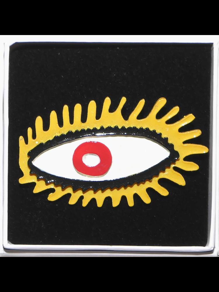 SIS by Spijkers en Spijkers eye brooch yellow