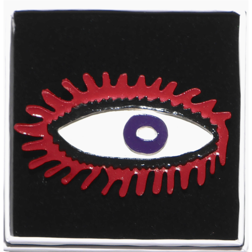 Brooch eye red