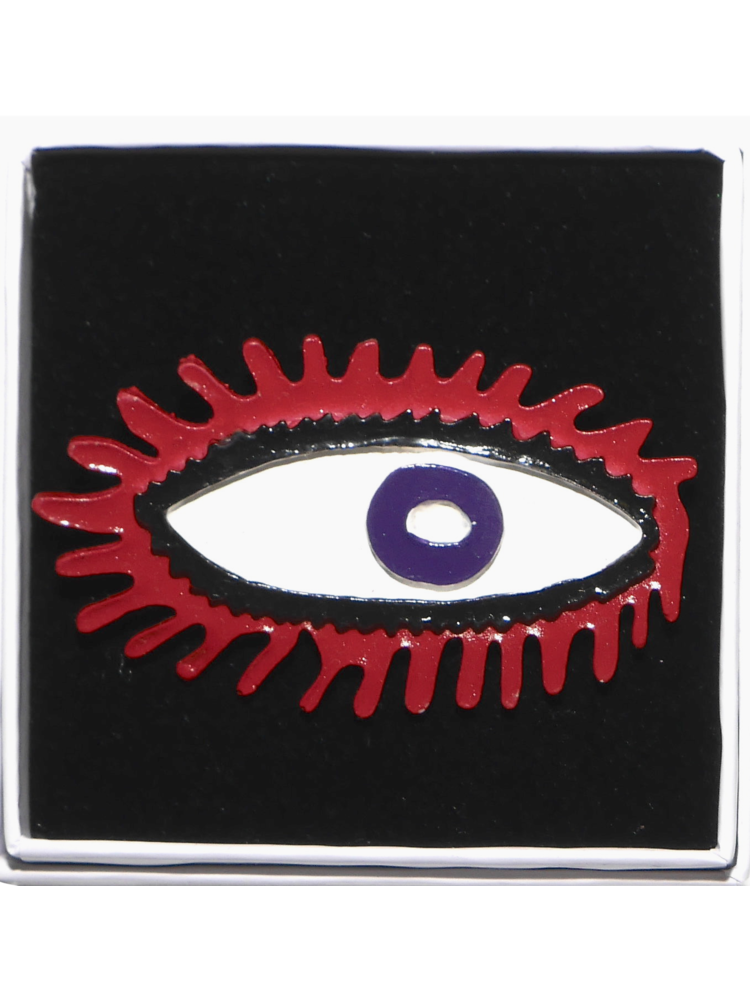 SIS by Spijkers en Spijkers eye brooch  red