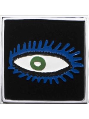 Brooch eye blue