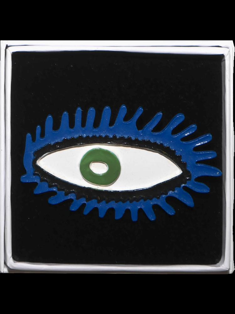 SIS by Spijkers en Spijkers eye brooch blue