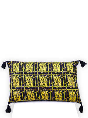 SIS by Spijkers en Spijkers printed tigers pillow yellow