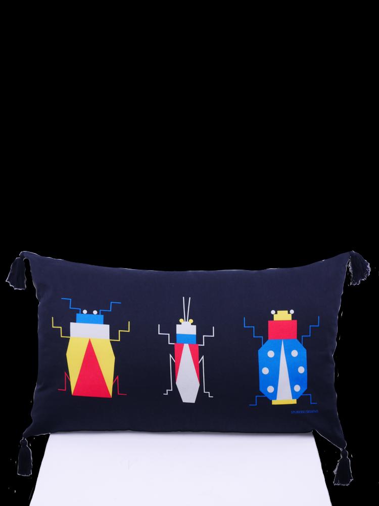 SIS by Spijkers en Spijkers Printed 3 beetles pillow