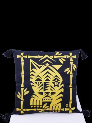 SIS by Spijkers en Spijkers Printed tiger pillow yellow