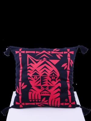 SIS by Spijkers en Spijkers Printed tiger pillow red