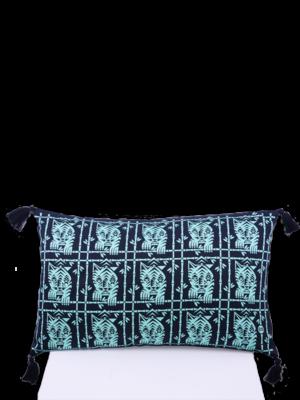 SIS by Spijkers en Spijkers Printed tigers pillow green