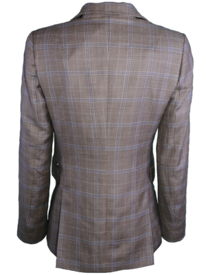 SIS by Spijkers en Spijkers checked waisted blazer