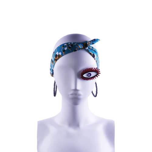 SIS by Spijkers en Spijkers Hairband with petrol shiny dot print