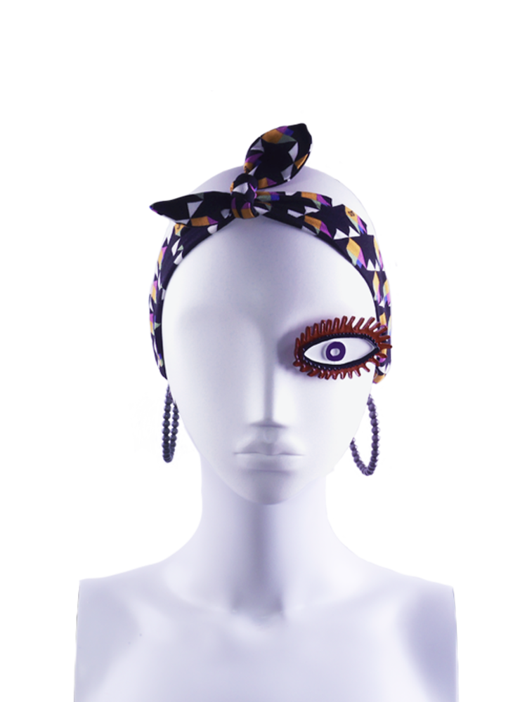 SIS by Spijkers en Spijkers Hairband in black flower print