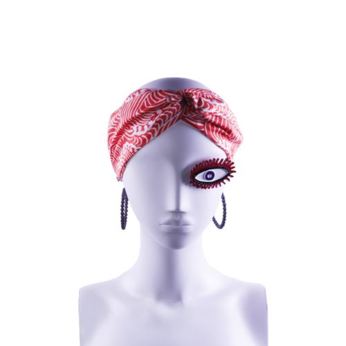 SIS by Spijkers en Spijkers Hairband  in red wave print