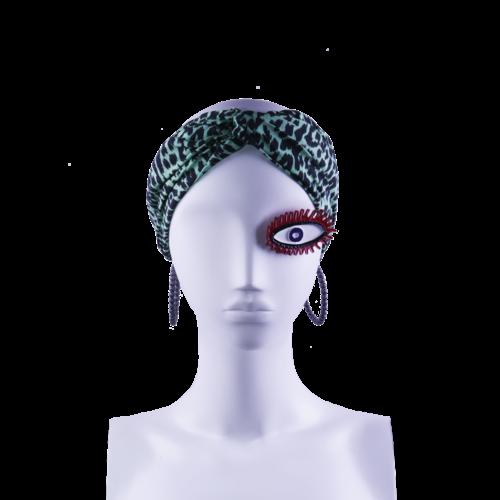 SIS by Spijkers en Spijkers Hairband  in green panter print