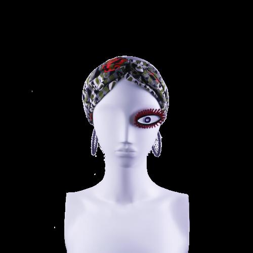 SIS by Spijkers en Spijkers Hairband  in green love print