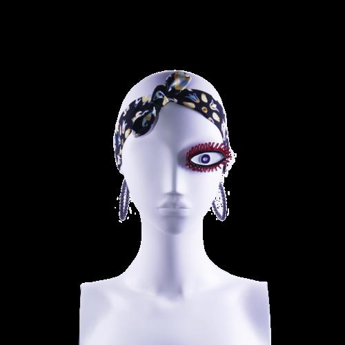 SIS by Spijkers en Spijkers Hairband  in black turtle print