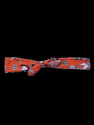 SIS by Spijkers en Spijkers Hairband in orange beautiful daisies print