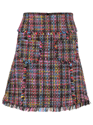 Tweed Skirt short multicolor