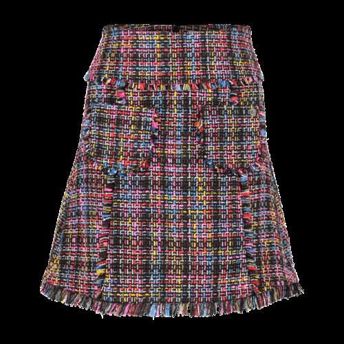 Tweed Skirt short multicolor