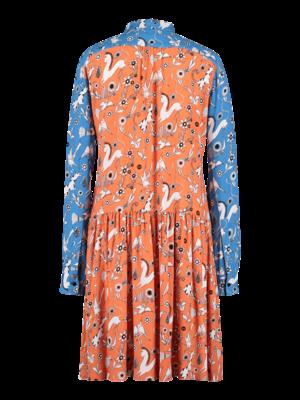 Wide Dress orange blue