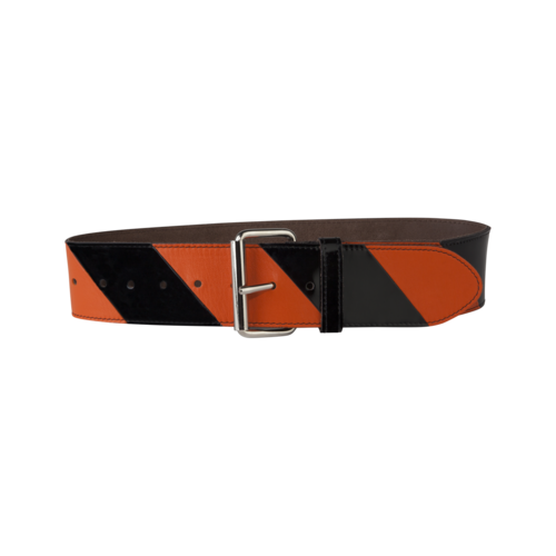 Striped Belt Big Orange/Black