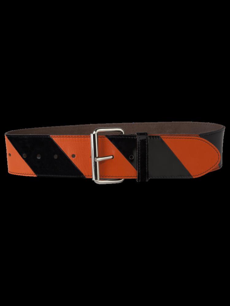 Striped Belt Big Orange/Black