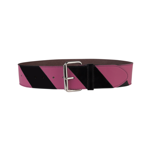 Striped Belt Big Pink/Black