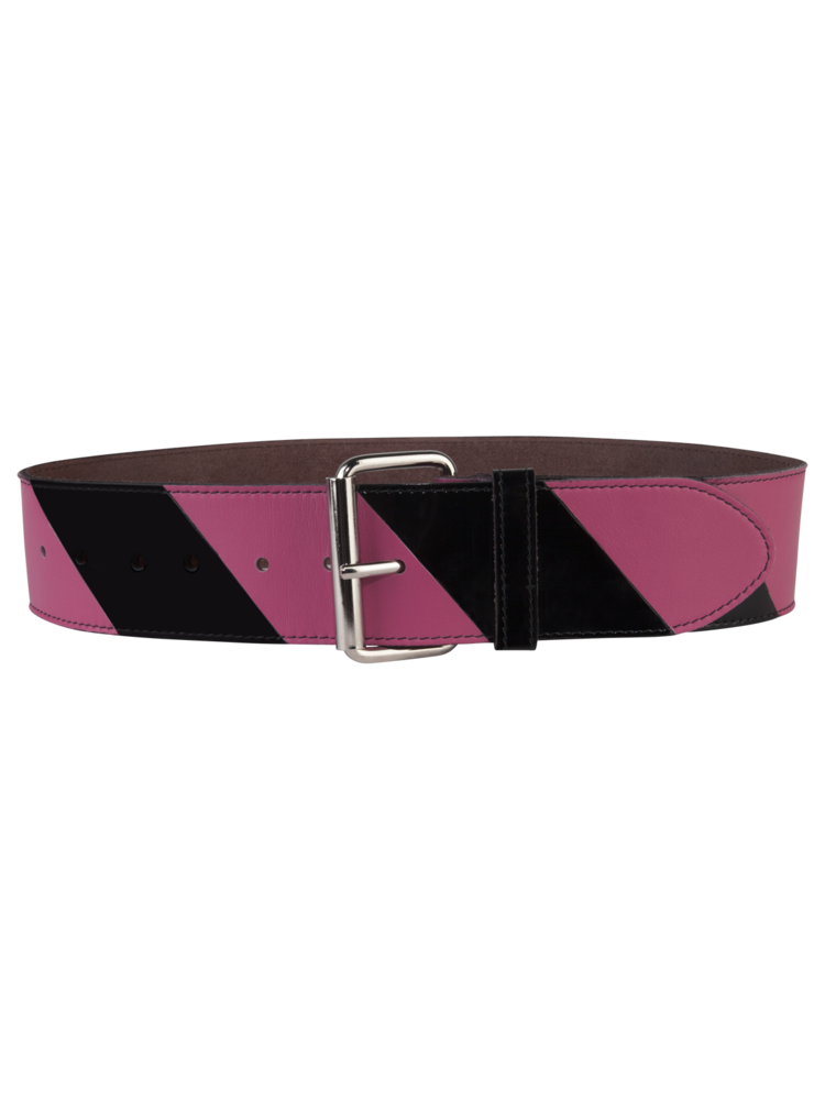 Striped Belt Big Pink/Black