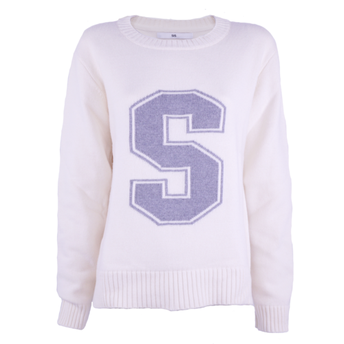 SIS by Spijkers en Spijkers Jumper White/Grey with S