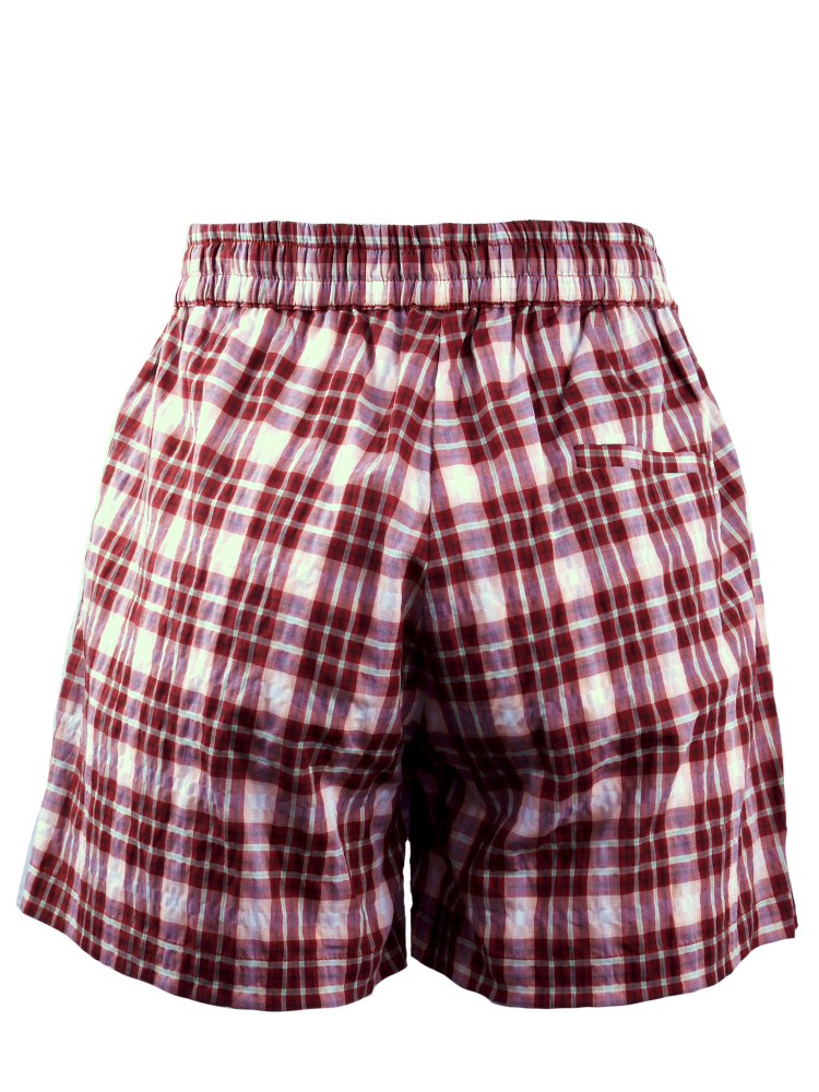 Tape Shorts brown/white