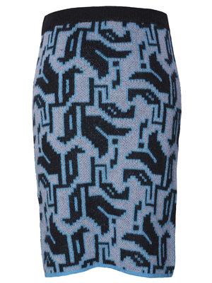 Tulip Knit Skirt blue